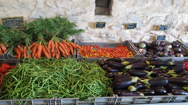 Fruits et légumes à la ferme de La Reboule